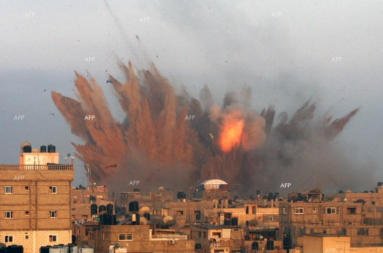 Israel launches a strike at Rafah, Gaza Strip.