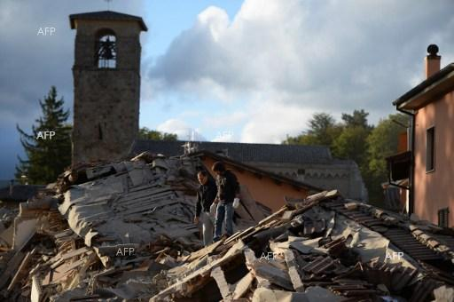 Strong 6.2-magnitude earthquake hit Italy. August 24, 2016.