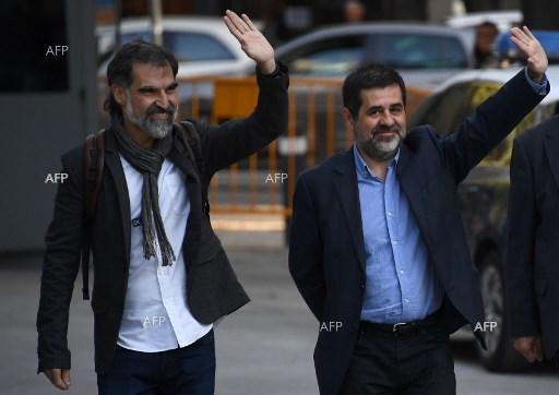 Jordi Sanchez and Jordi Cuixart were arrested by Spanish police. October 17, 2017;