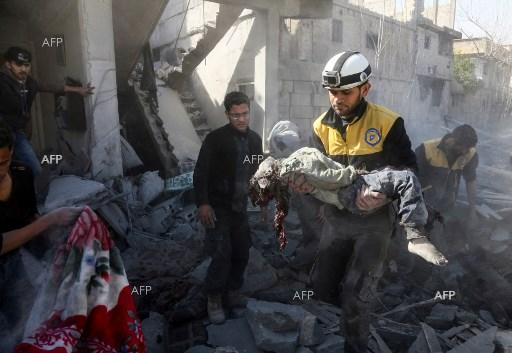 AFP: Russia blamed as key clinic in Syria enclave bombed out of service
