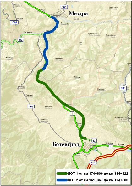 Road agency launches procurements for 33 km between Mezdra and Botevgrad and 6 km of Sofia ring road