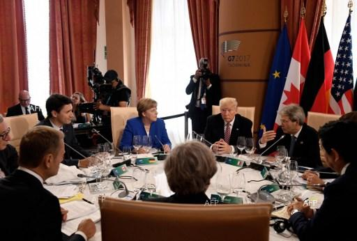 High-level G7 meeting in Taormina. May 27, 2017