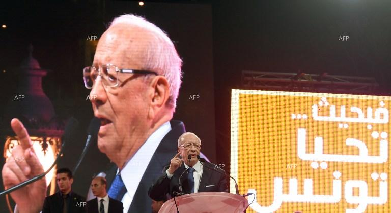 Tunisia President candidate Beji Caid Essebsi, leader of the anti-Islamist Nidaa Tounes party.