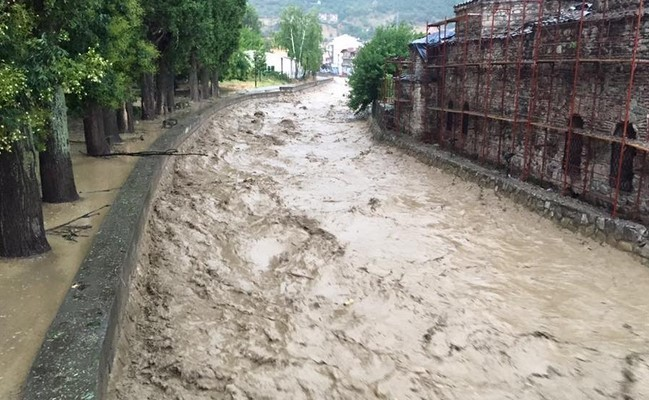 Macedonia. Floods in Tetovo.