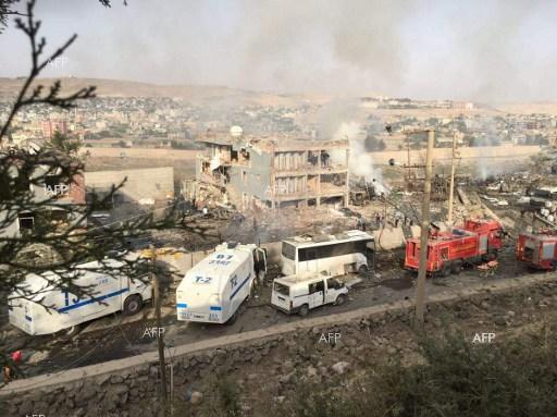 At least 10 dead in attack in southeastern Turkey.