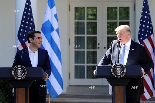US President Donald Trump met with Greek Prime Minister Alexis Tsipras - October 18, 2017;