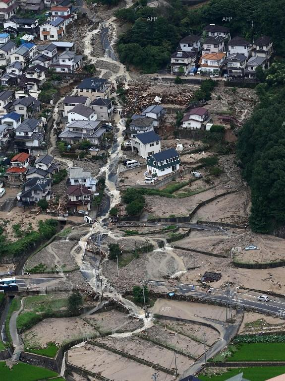 Landslide kills tens of people in Japan.