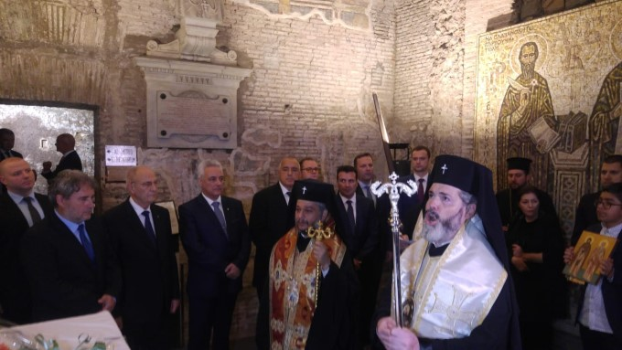 Bulgaria and Macedonia celebrat legacy of St. Cyril at his tomb in Basilica di San Clemente in Rome