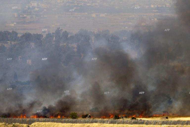 Israel strikes Syrian military near Golan Heights