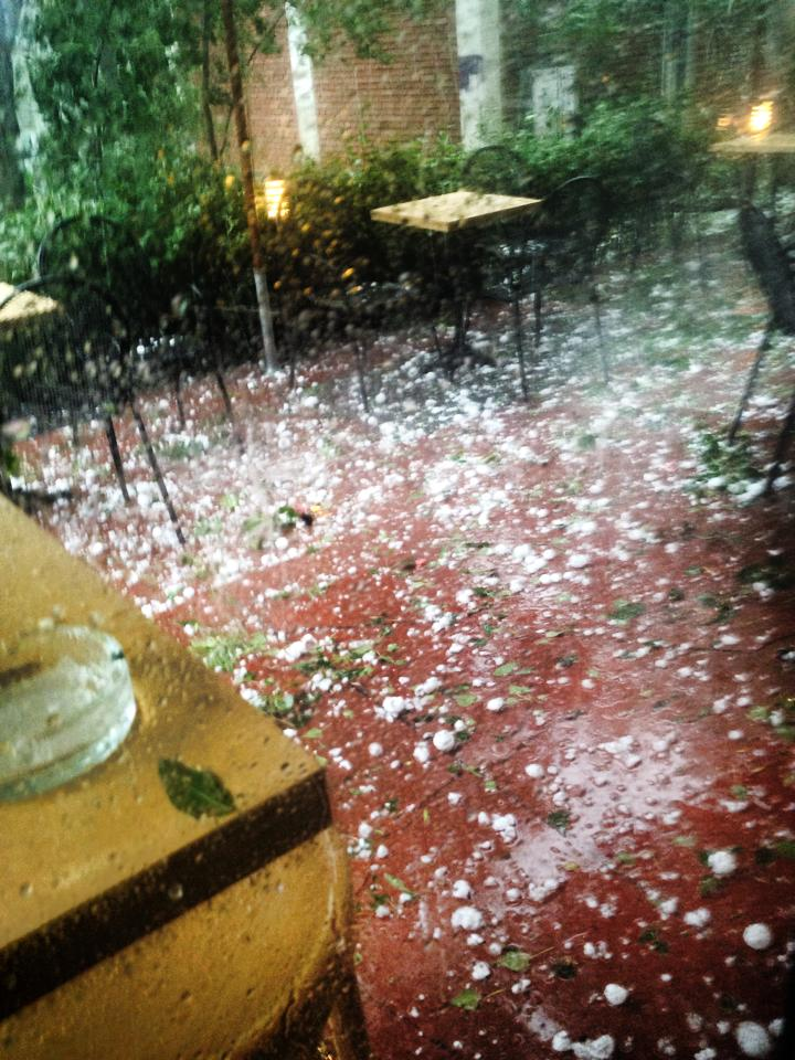 Hailstones with the size of a walnut in the capital Sofia.