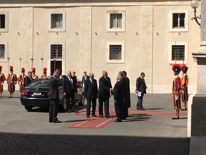 Bulgarian PM Borissov has audience with the Pope