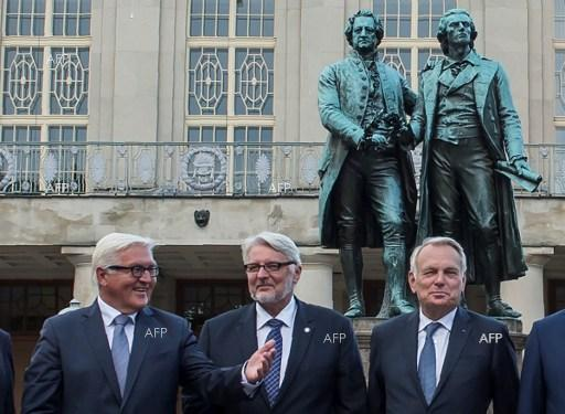 Foreign ministers of Weimar Triangle. August 29, 2016.