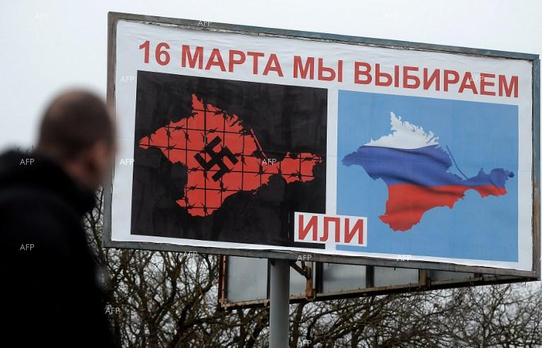 Simferopol. A referendum will be held on the status of Crimea on March 16.