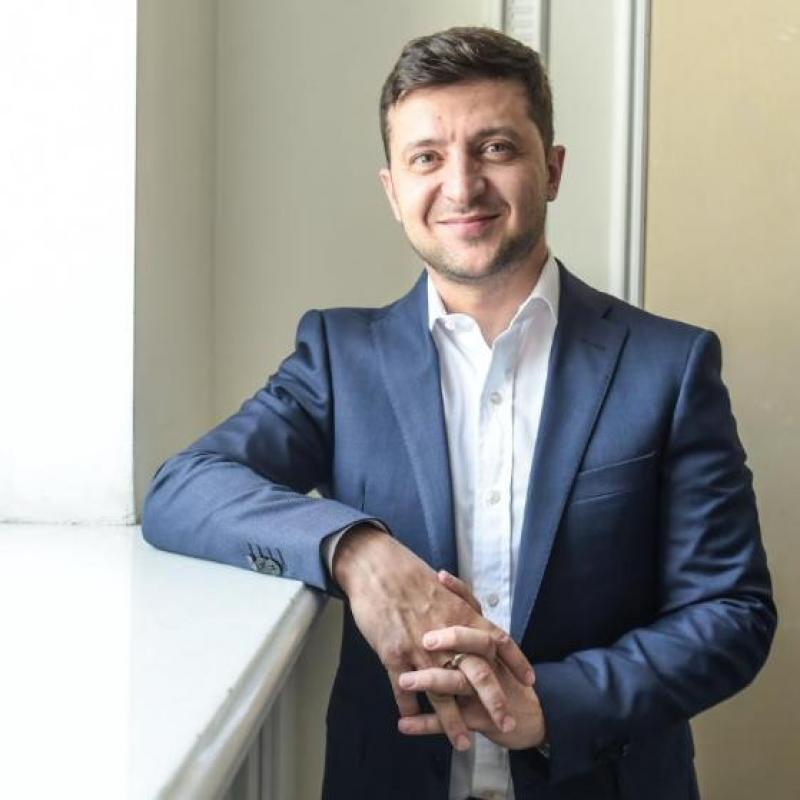 Volodymyr Zelensky on his first official visit to Germany. June 18, 2019