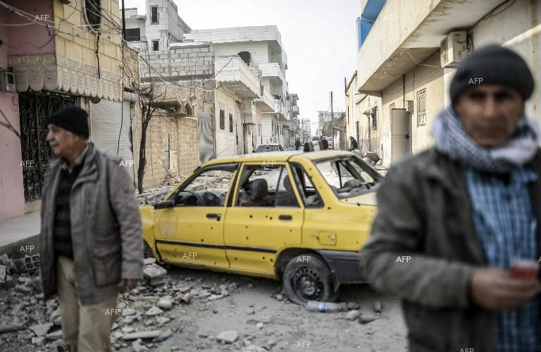 Kobane in ruins after the IS was driven out by the Kurds.