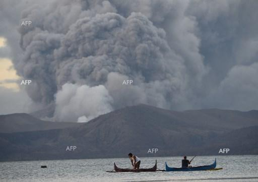 Taal Volcano erupts in the Philippines. January 14, 2020