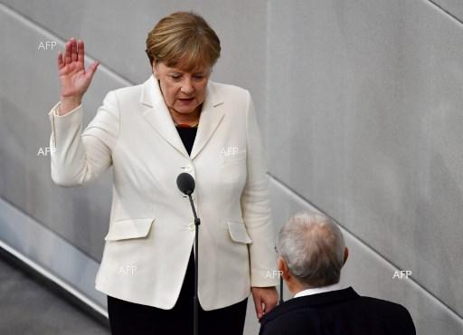 Angela Merkel sworn in as German Chancellor for the 4th time. March 14, 2018;