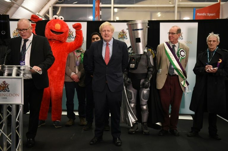 Boris Johnson announces victory in UK elections. December 13, 2019
