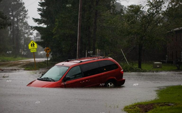 Floods in North Carolina caused by Hurricane Florence. September 16, 2018;