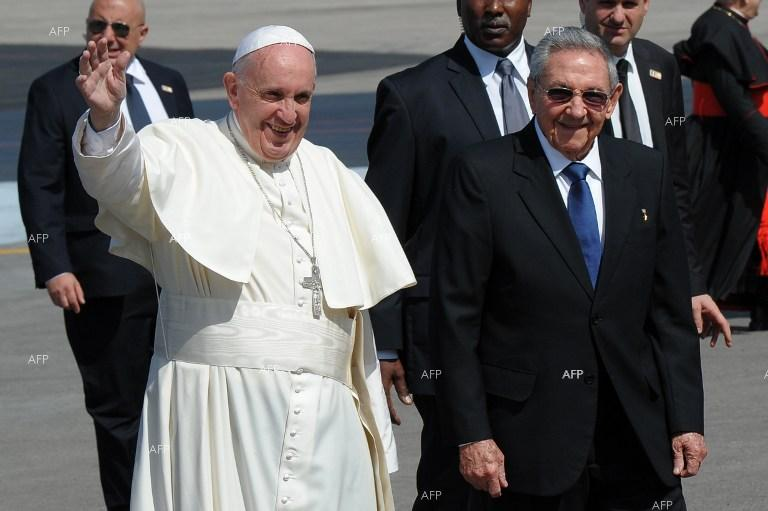 Pope lands in Cuba for historic meeting with Russian patriarch