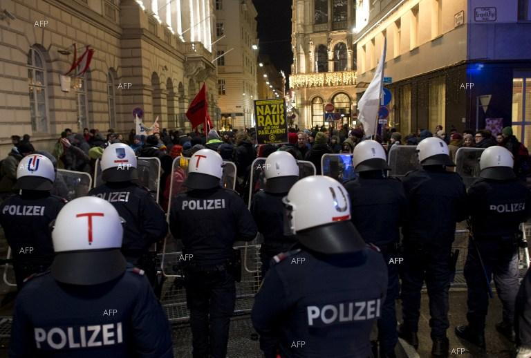 Thousands of people protest in Vienna against a ball organised by the far-right Freedom Party.