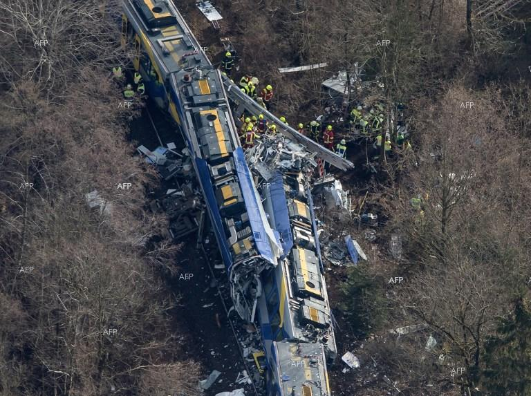 Railway accident in South Germany.