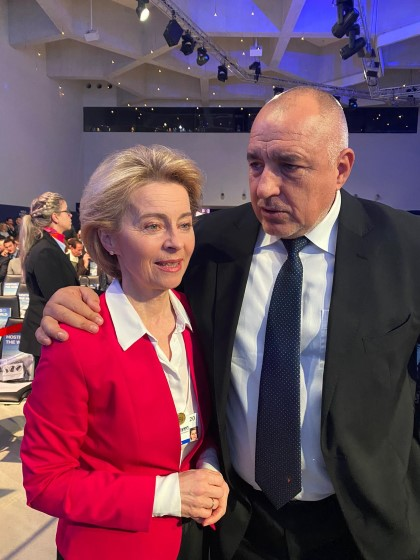 Prime Minister Boyko Borissov talks with EC President Ursula von der Leyen in Davos. January 21, 2020