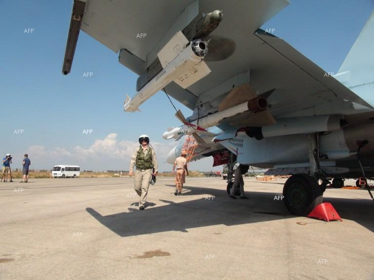 Russian fighter jets at their base in Syria.
