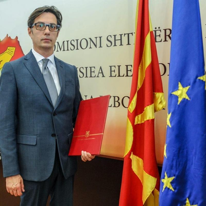 Stevo Pendarovski. President of North Macedonia. May 11, 2019