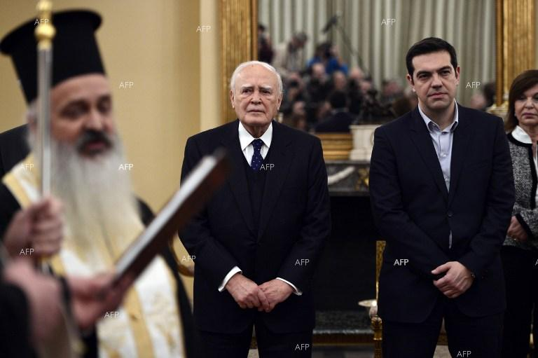 New Greek government of Alexis Tsipras sworn in.