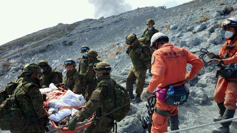 Rescue operations underway at Mount Ontake