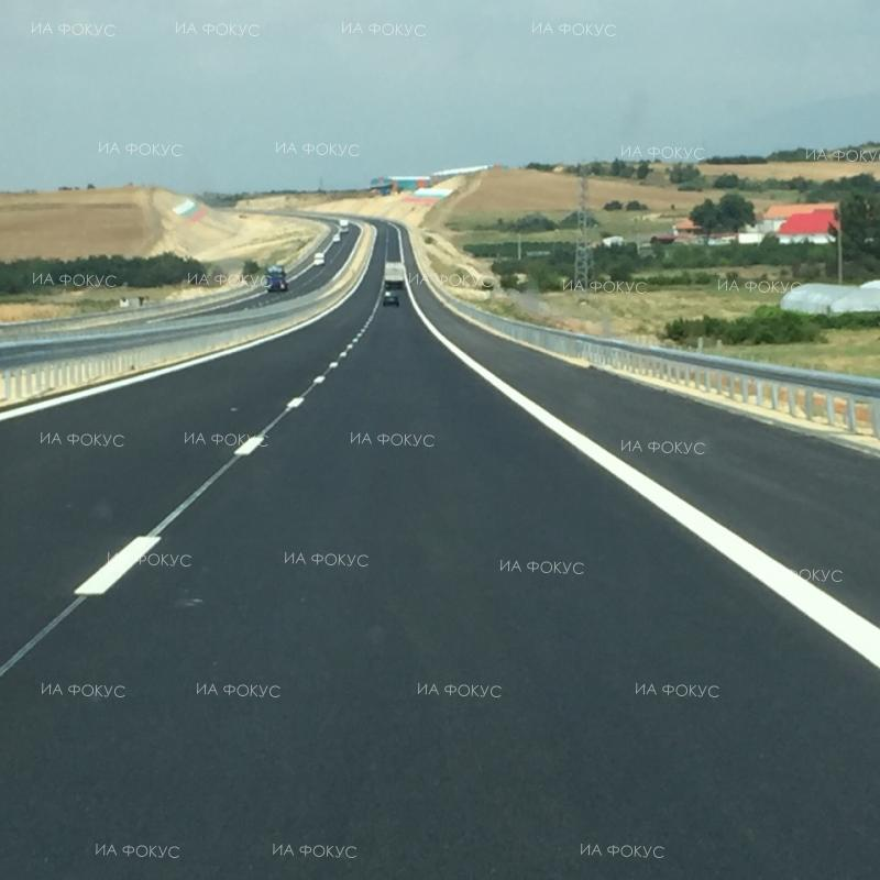 New section of Bulgarias Struma motorway.