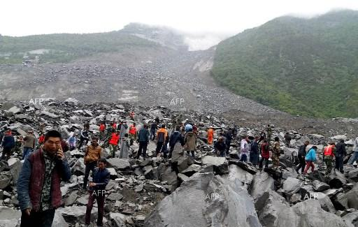 Over 100 people diappeared after landslide in China - June 25, 2017.