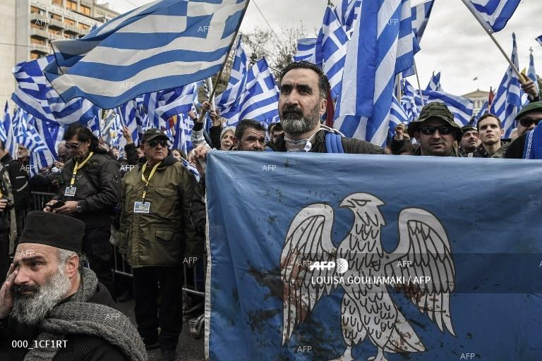 Protest in Athens under the slogan: Macedonia is Greek. January 20, 2019;