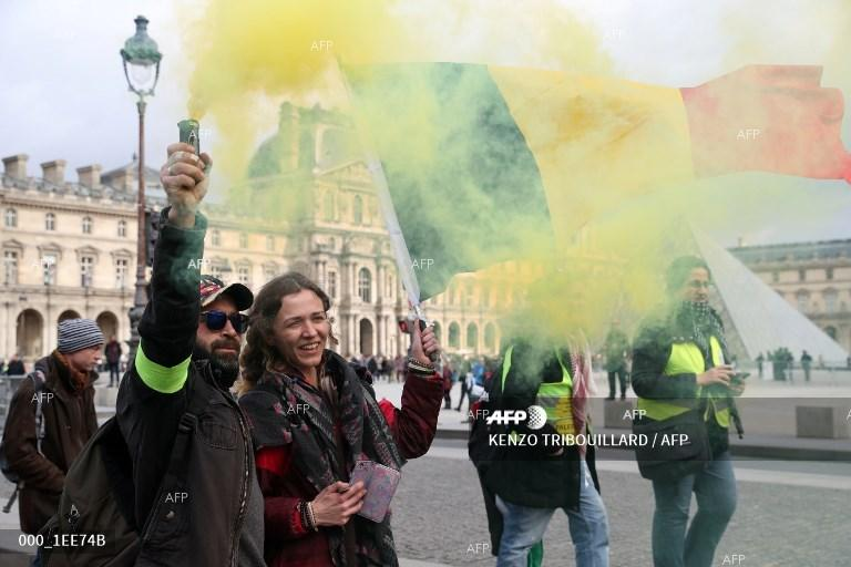 Yellow vests protests in Paris. March 9, 2019;