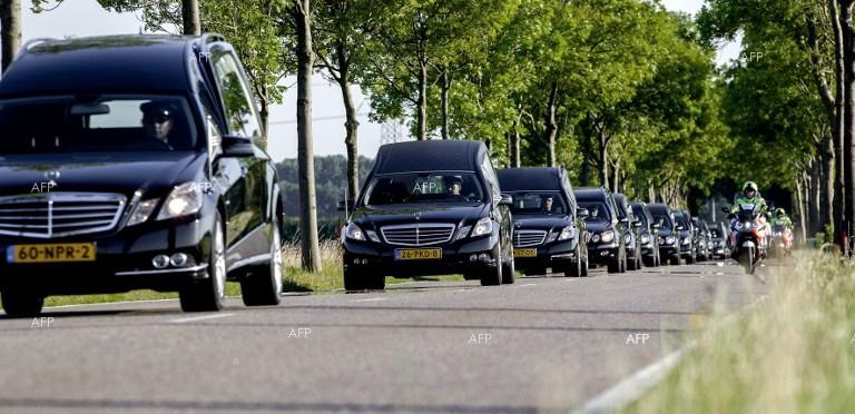 40 mourning-coaches headed at the Dutch city of Hilversum for the official identification of the victims of MH17 crash.