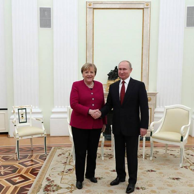 Federal Chancellor of Germany Angela Merkel is on a working visit to Moscow. January 11, 2020