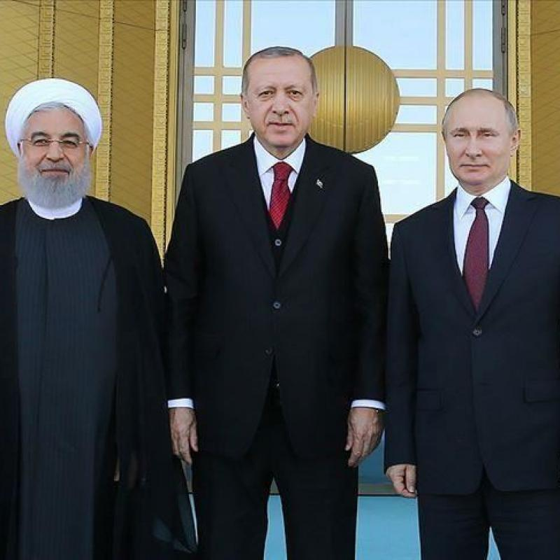 Tripartite summit of presidents of Russia, Turkey and Iran in Ankara. September 16, 2019
