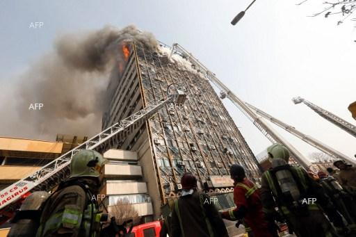 Oldest high-rise in Iran collapses after a fire. January 19, 2017.