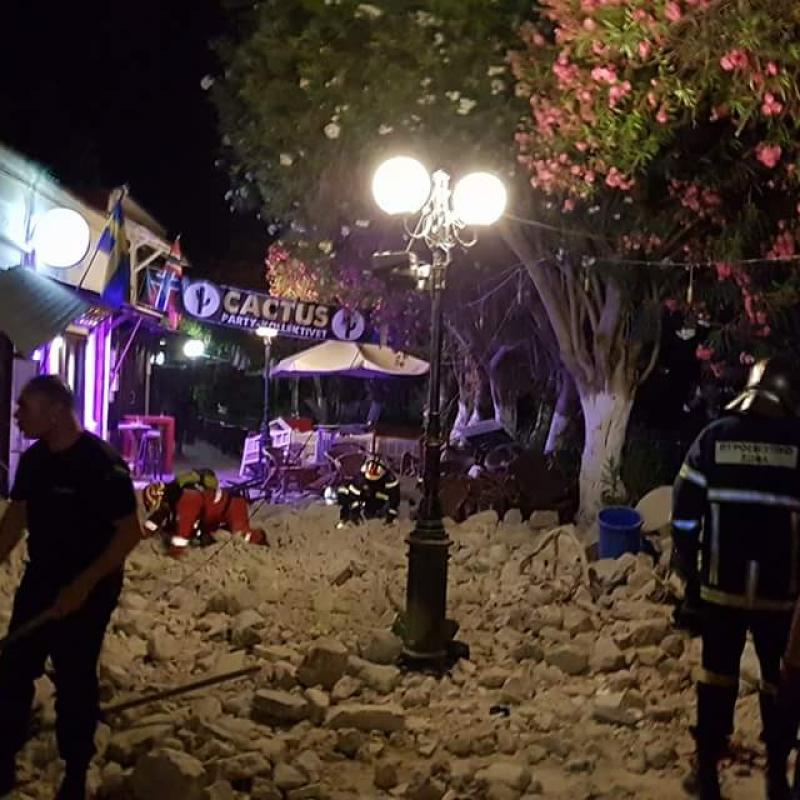 Quake measuring 6.7 on Richter in Aegean Sea took the lives of two people on Greek Kos Island. July 21, 2017;