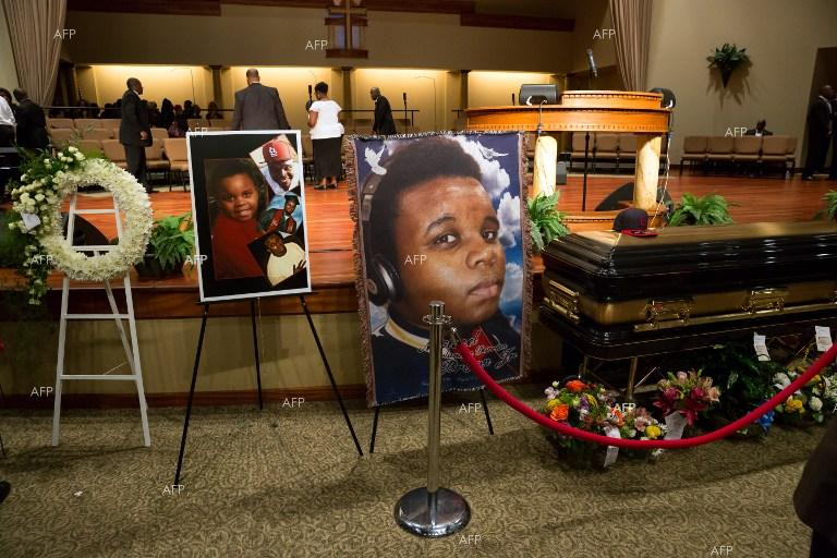 The funeral of Michael Brown.