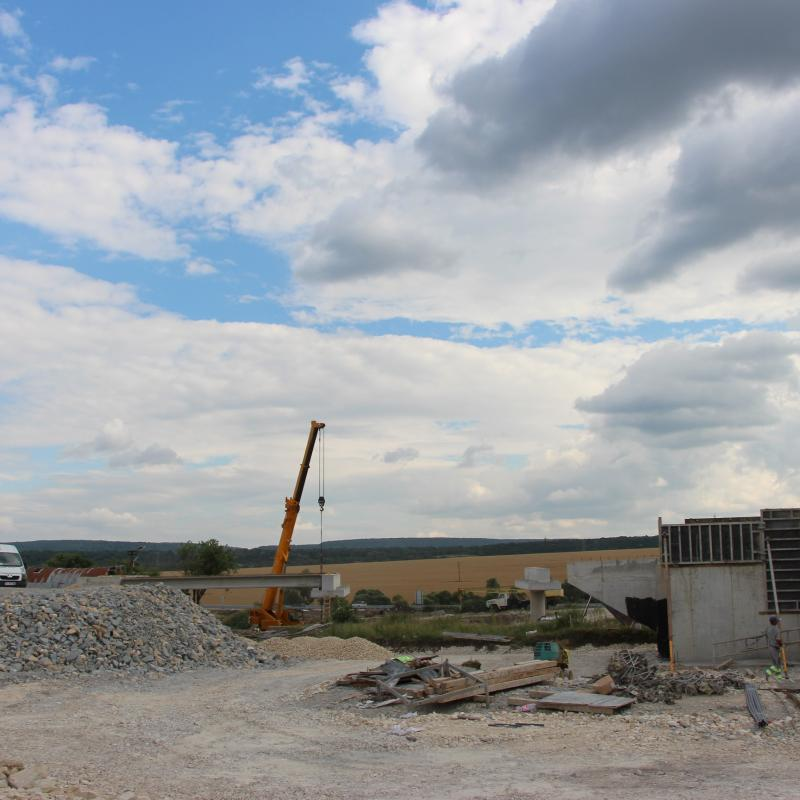 Shumen. Construction of the Shumen - Belokopitovo section of Hemus motorway.