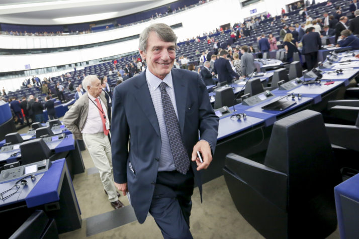 David-Maria Sassoli. President of the European Parliament. July 7, 2019