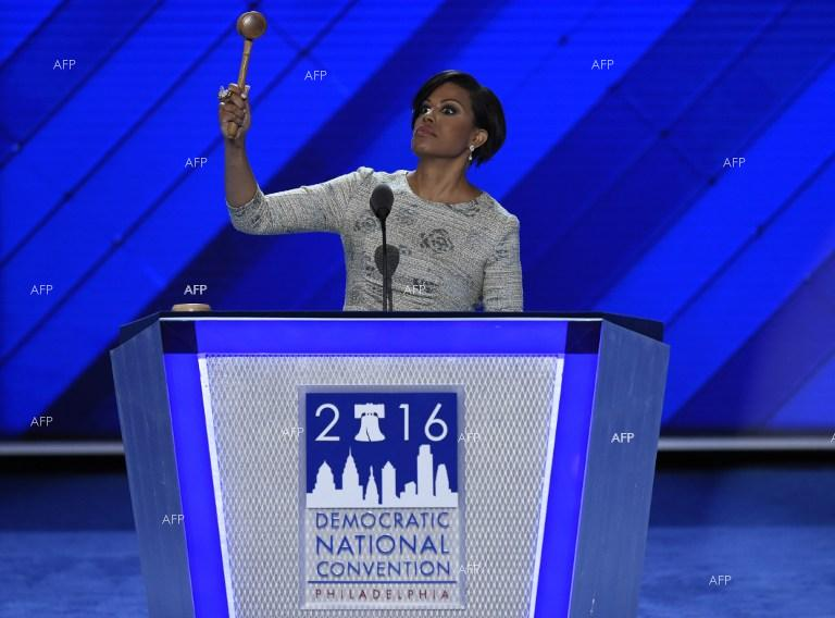 Baltimore Mayor Stephanie Rawlings-Blake opens Democratic National Convention at the Wells Fargo Centre in Philadelphia, Pennsylvania. July 26, 2016.