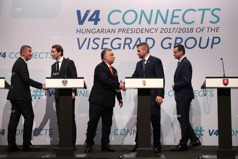 A meeting of the Visegrad Four prime ministers with Austrian Chancellor Sebastian Kurz. June 21, 2018;