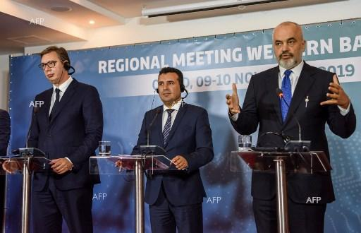 Meeting of Western Balkan leaders in Ohrid. November 10, 2019